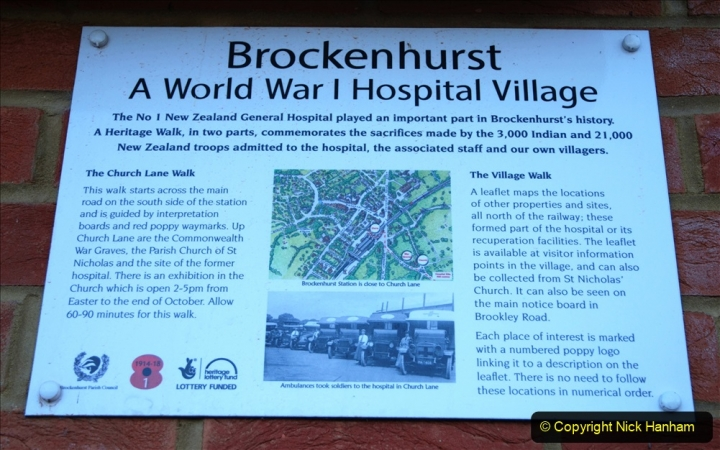2020-12-14 Brockenhurst, Hampshire. (51) WW1 and New Zealand troops hospital area walk. 103