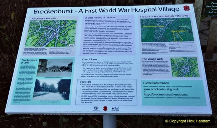 2020-12-14 Brockenhurst, Hampshire. (53) WW1 and New Zealand troops hospital area walk. 105