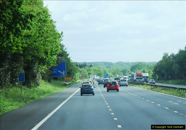 A trip along the M3 and A34 on 20 May 2015