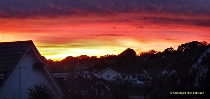 2021-06-14 Sunset and Moon Rise over Poole, Dorset. (1) 001