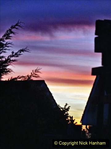 2021-06-14 Sunset and Moon Rise over Poole, Dorset. (2) 002