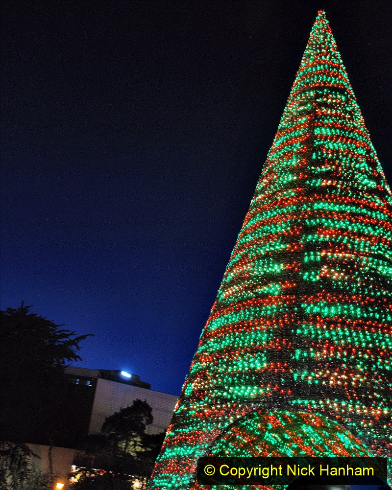 2019-12-09 Bournemouth Christmas Lights. (161) The Tree of Many Colours. 161