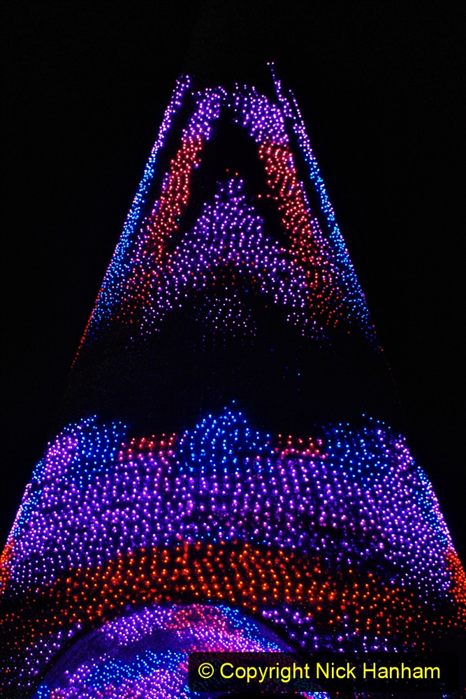 2019-12-09 Bournemouth Christmas Lights. (174) The Tree of Many Colours. 174