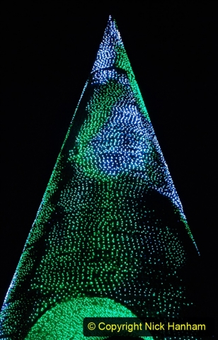 2019-12-09 Bournemouth Christmas Lights. (182) The Tree of Many Colours. 182
