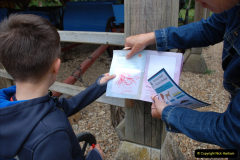 2019-05-26 Brownsea Island visit. (20) Tracing wild animals.20