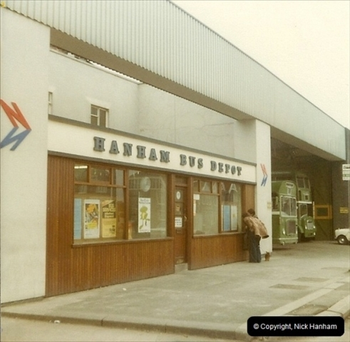 1980 Summer. Hanham Bus garage, Bristol. Your Host's Name!020