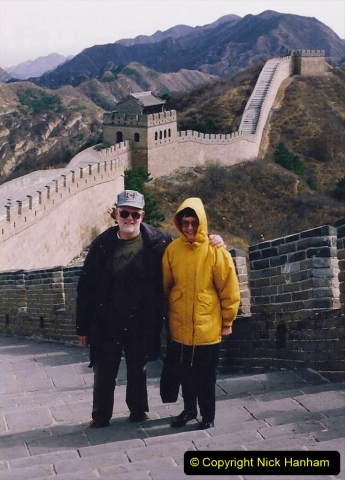 China 1993 April. (177) The Great Wall. Your Host and Wife.177