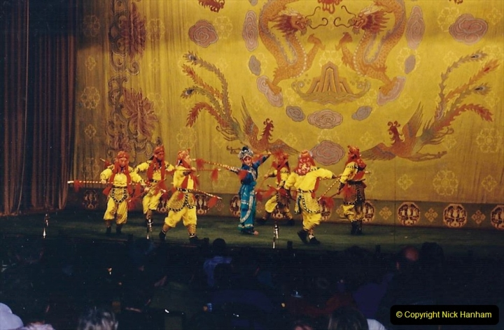 China 1993 April. (204) A night at the Beijing Opera. 204