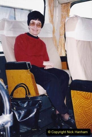 China 1993 April. (53) Our tour coach 'C'053