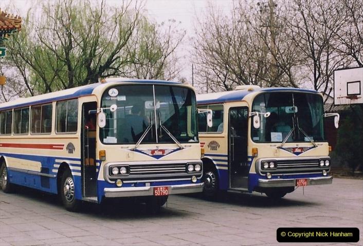 China 1993 April. (54) Our tour coach 'C'054