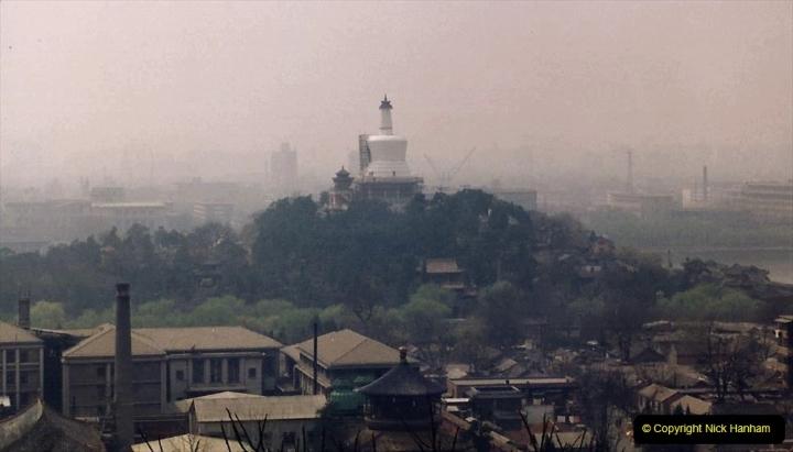 China 1993 April. (85) in Jingshan Park. The Dagoba in Beihai Park.085