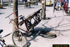 China 1993 April. (291) Beijing. Bicycle Repair Man needed.291
