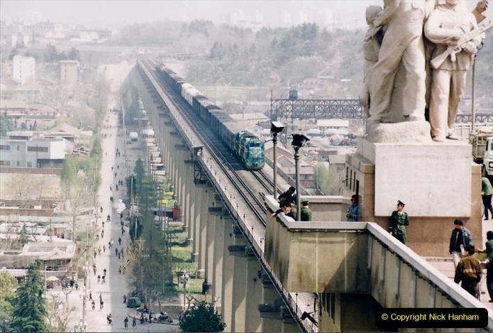 China 1993 April. (21) Nanjing Bridge over the Yangtze River. 030