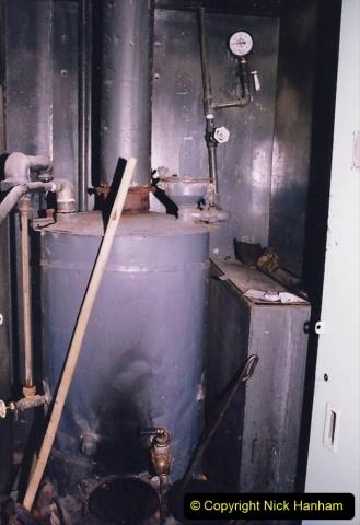 China 1993 April. (40) Nanjing to Wuxi. Coach boiler for hot water.040