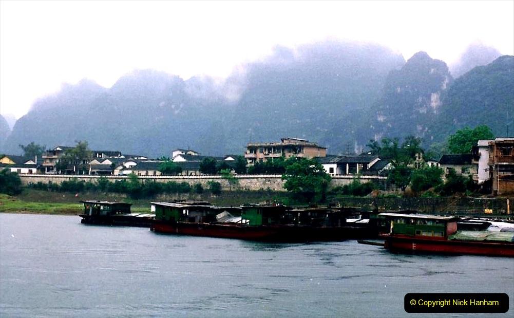 China 1993 April. (105) On the Li or Lijiang River  to Yangshuo. 105