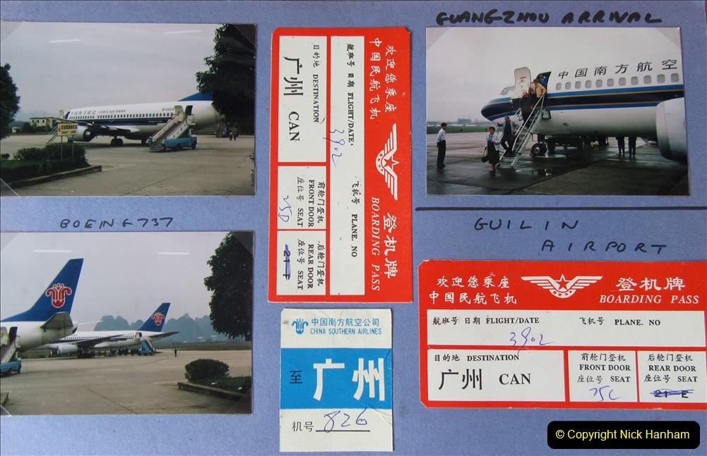 China 1993 April. (130) By air to Guangzhou. 130