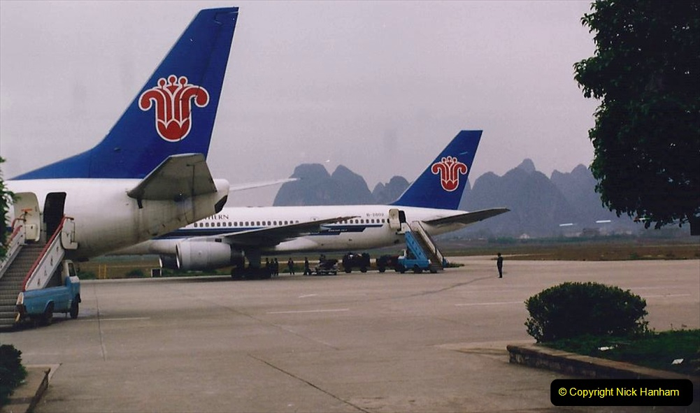 China 1993 April. (133) By air to Guangzhou. 133