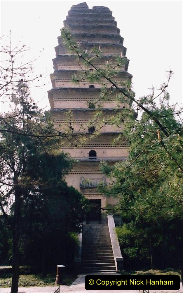 China 1993 April. (29) The Small Wild Goose Pagoda in Xain. 029