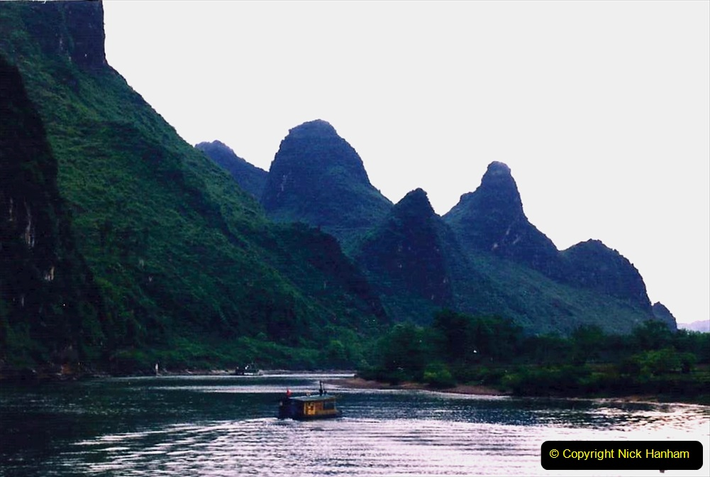 China 1993 April. (73) On the Li or Lijiang River  to Yangshuo. 073