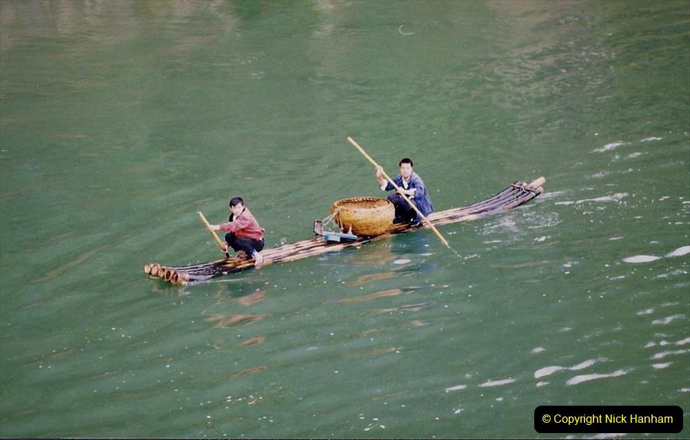 China 1993 April. (74) On the Li or Lijiang River  to Yangshuo. 074