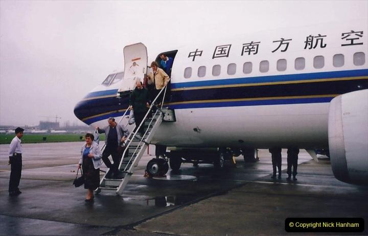 China 1993 April. (132) By air to Guangzhou. 132
