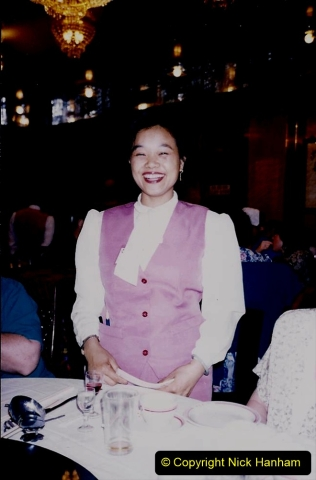 China 1993 April. (180) Farewell to China with a suckling pig dinner. 180