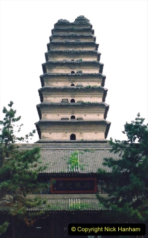 China 1993 April. (28) The Small Wild Goose Pagoda in Xain. 028
