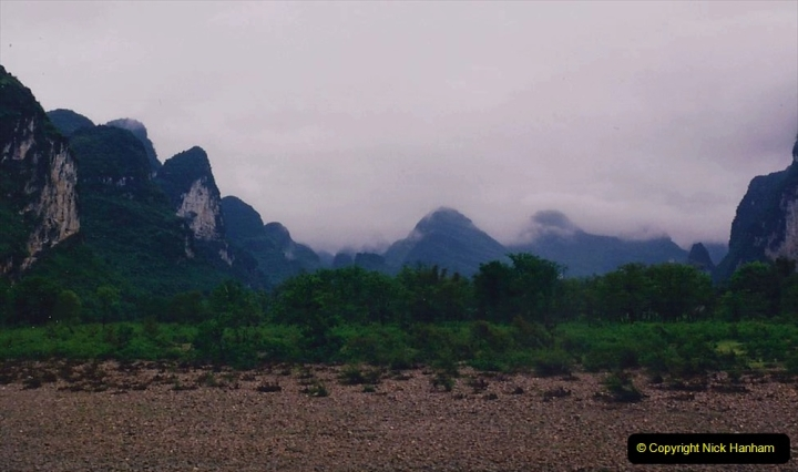 China 1993 April. (82) On the Li or Lijiang River  to Yangshuo. 082