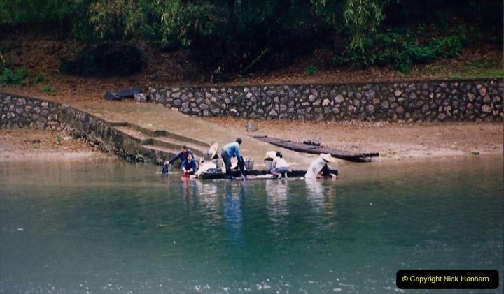 China 1993 April. (84) On the Li or Lijiang River  to Yangshuo. 084