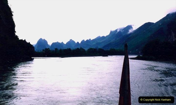 China 1993 April. (85) On the Li or Lijiang River  to Yangshuo. 085