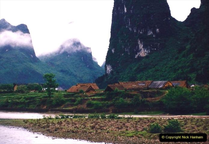 China 1993 April. (93) On the Li or Lijiang River  to Yangshuo. 093
