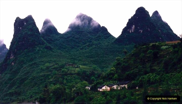 China 1993 April. (97) On the Li or Lijiang River  to Yangshuo. 097
