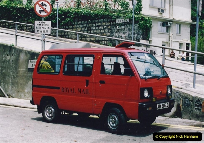 China 1993 April China into Hong Kong. (101) Hong Kong Mail. 101