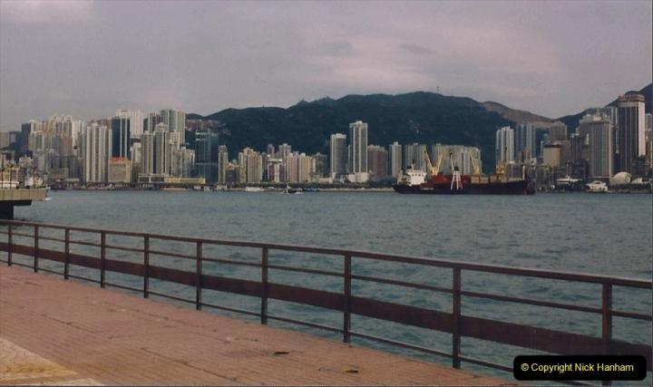China 1993 April China into Hong Kong. (105) A clearer day from Kawloon. 105