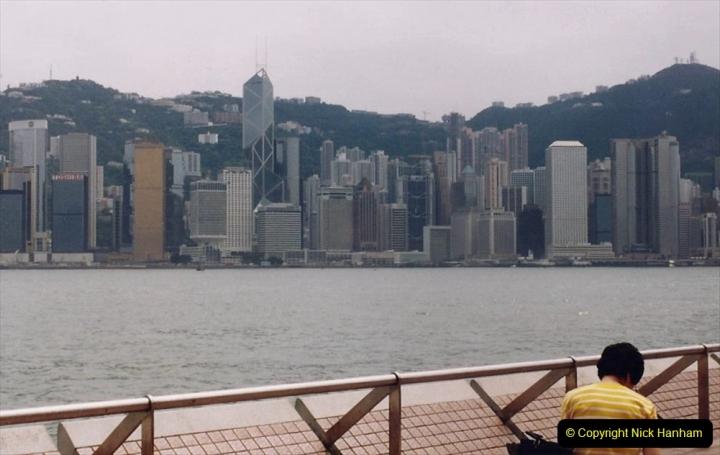 China 1993 April China into Hong Kong. (107) A clearer day from Kawloon. 107