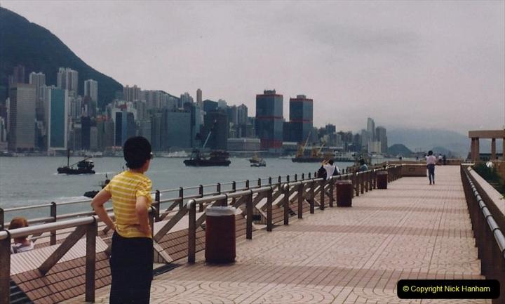China 1993 April China into Hong Kong. (110) A clearer day from Kawloon. 110