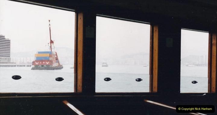 China 1993 April China into Hong Kong. (115) On the Star Ferry. 115