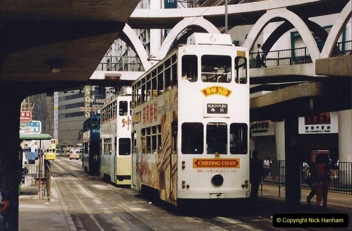 China 1993 April China into Hong Kong. (154) Hong Kong. 154