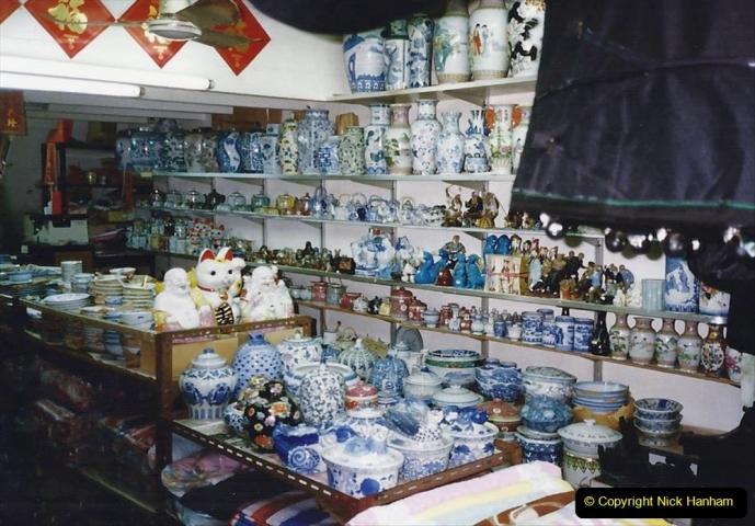 China 1993 April China into Hong Kong. (166) Hong Kong. 166