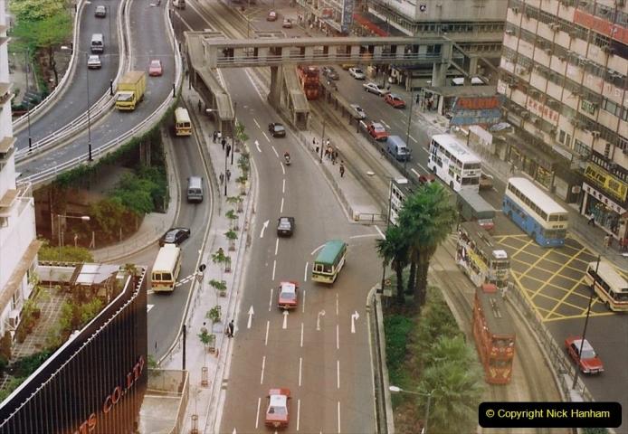 China 1993 April China into Hong Kong. (176) Last look at Hong Kong. 176