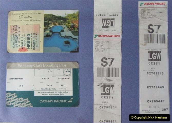 China 1993 April China into Hong Kong. (179)  Hong Kong to London. 179
