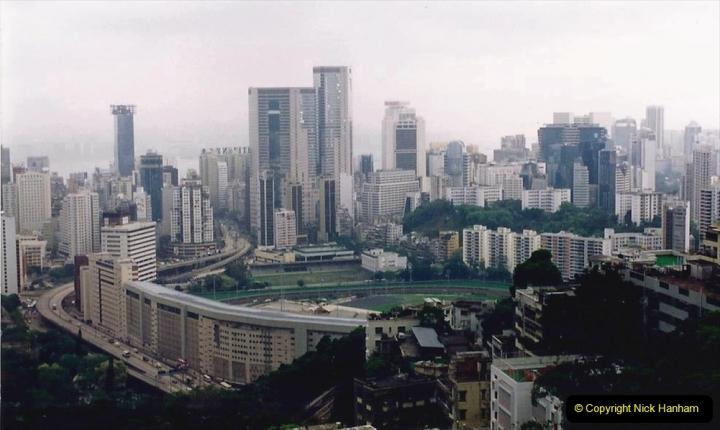 China 1993 April China into Hong Kong. (20) Happy Valley. 021