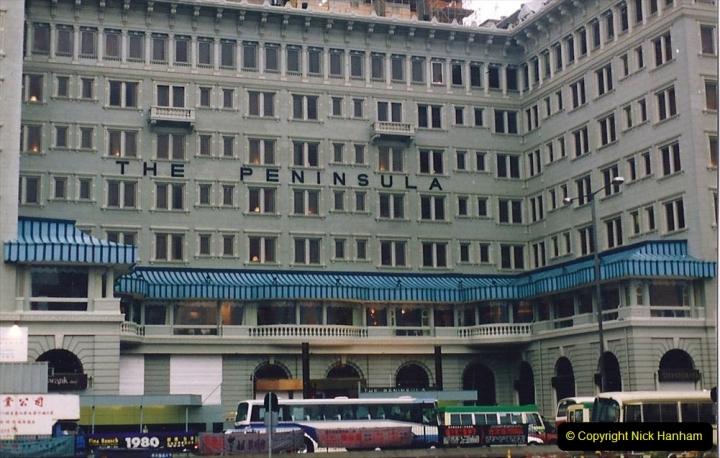 China 1993 April China into Hong Kong. (44) Morning coffee at The Peninsula.044