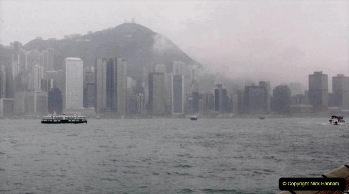 China 1993 April China into Hong Kong. (48) Hong Kong from Kowloon. 048