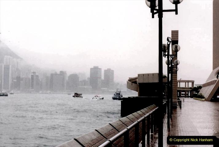 China 1993 April China into Hong Kong. (50) Hong Kong from Kowloon. 050