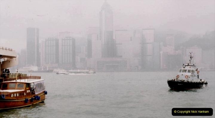 China 1993 April China into Hong Kong. (52) Hong Kong from Kowloon. 052