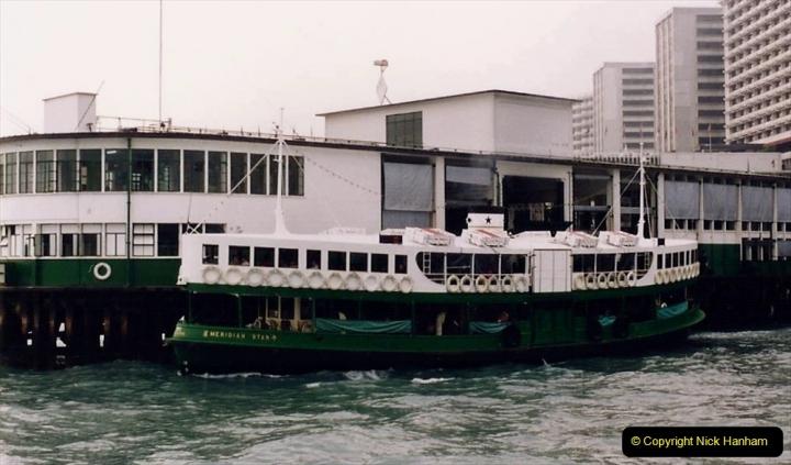 China 1993 April China into Hong Kong. (53) Hong Kong from Kowloon. Star Ferry.053