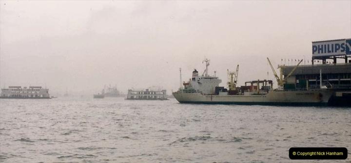 China 1993 April China into Hong Kong. (54) Hong Kong from Kowloon. 054