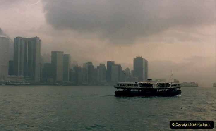 China 1993 April China into Hong Kong. (55) Hong Kong from Kowloon. 055