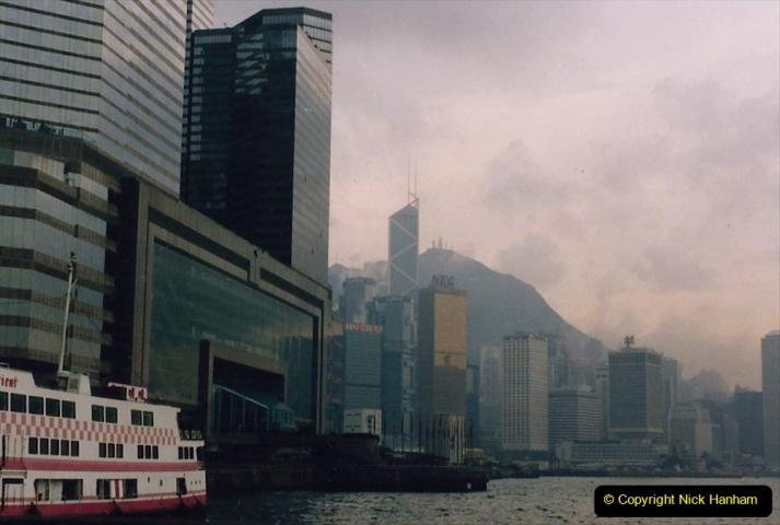 China 1993 April China into Hong Kong. (57) Hong Kong from Kowloon. 057